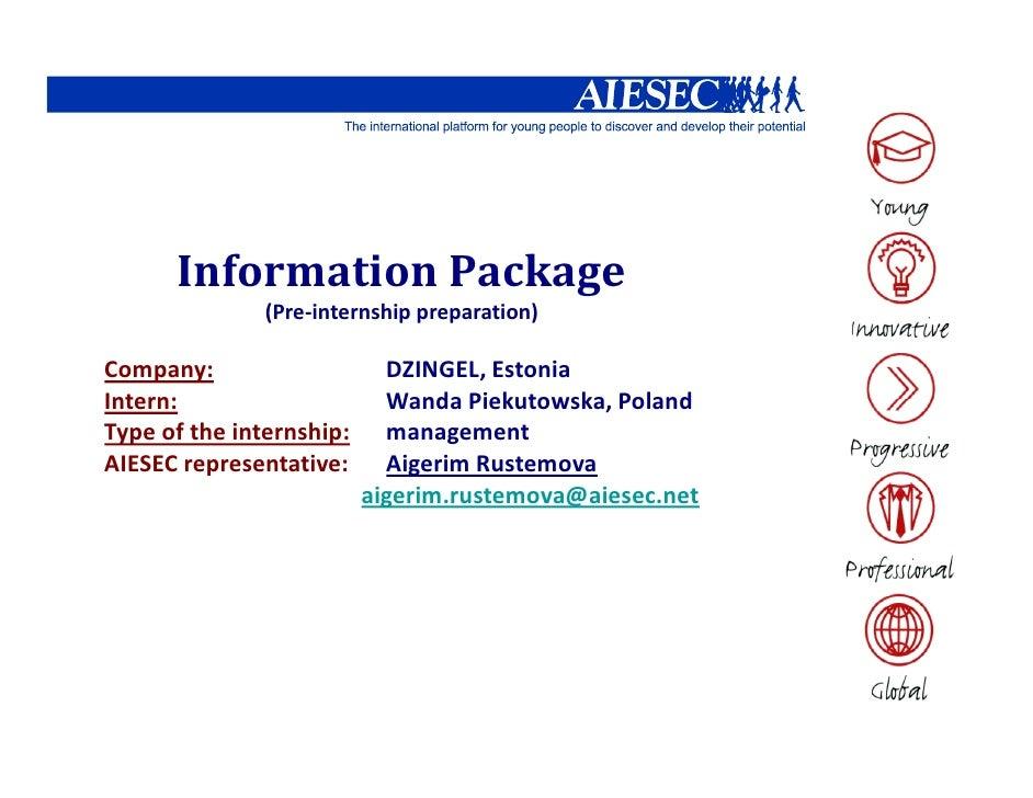 AIESEC Estonia internship_Wanda Piekutowska Infopackage