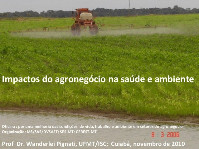 Impactos do agronegócio na saúde e ambienteOficina : por uma melhoria das condições de vida, trabalho e ambiente em setore...