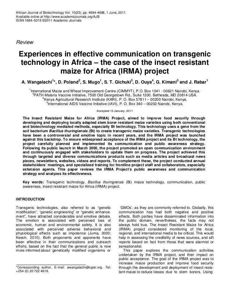 African Journal of Biotechnology Vol. 10(23), pp. 4694-4698, 1 June, 2011Available online at http://www.academicjournals.o...
