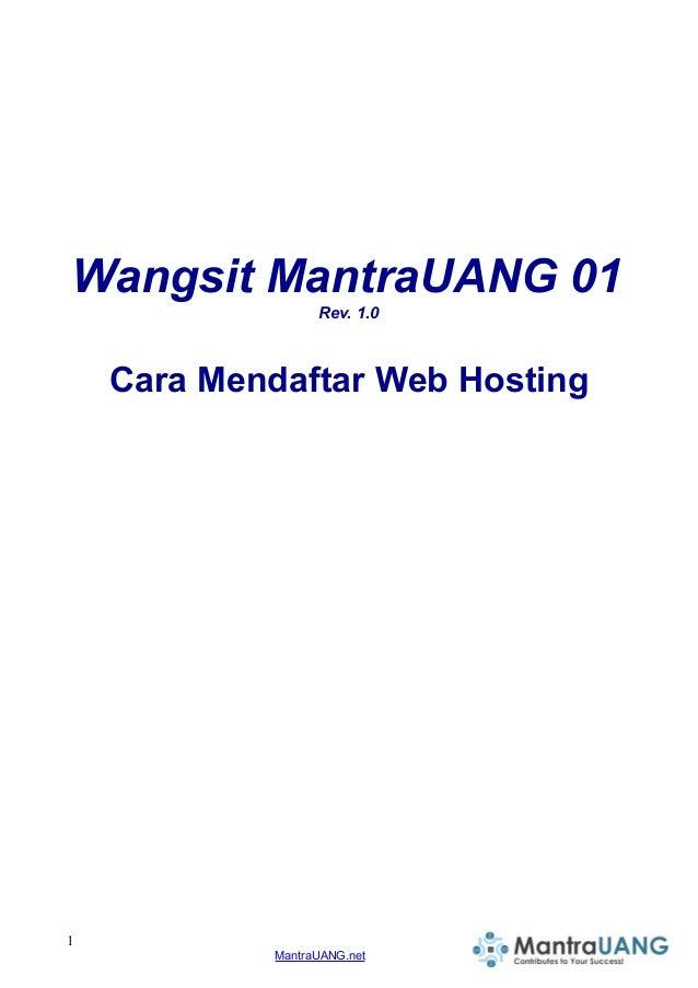 Wangsit MantraUANG 01 Rev. 1.0 Cara Mendaftar Web Hosting 1 MantraUANG.net