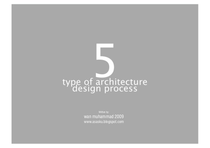 5 type of architecture design process for Types of architectural design concepts