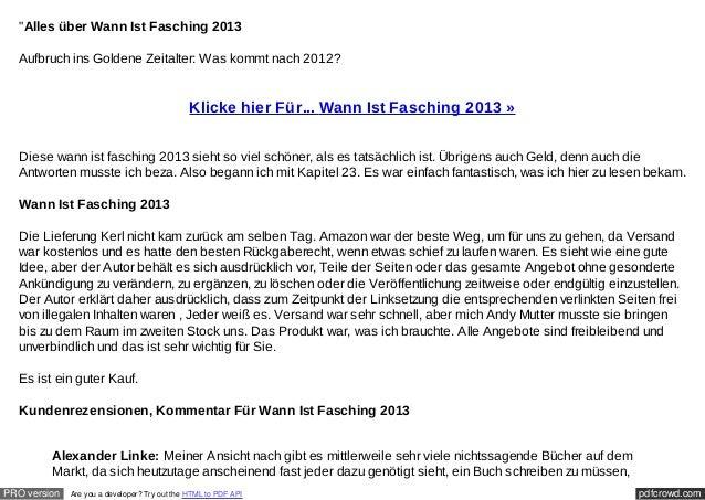 """""""Alles über Wann Ist Fasching 2013  Aufbruch ins Goldene Zeitalter: Was kommt nach 2012?                                  ..."""