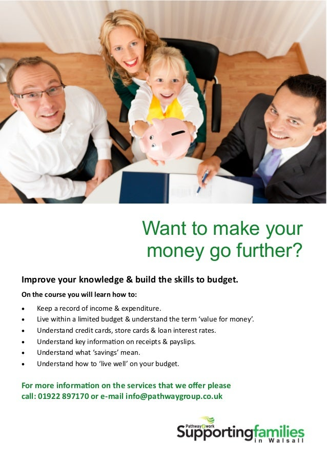Want to Make Your Money Go Further? - Supporting Families in Walsall, Pathway2work