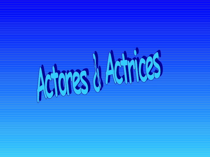 Actores & Actrices