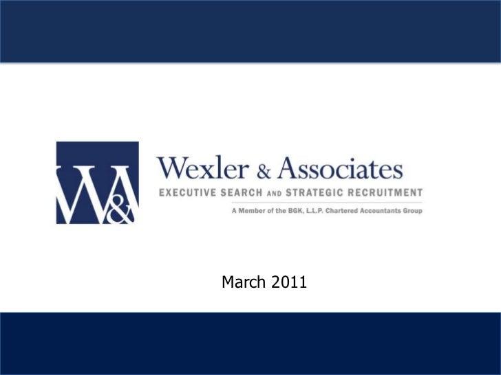 Wexler & Associates Overview