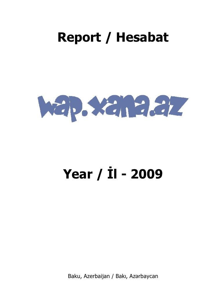 Wap Xana Az 2009 Report