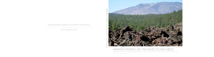 Wapatki Crater   on the road to San Diego book 7