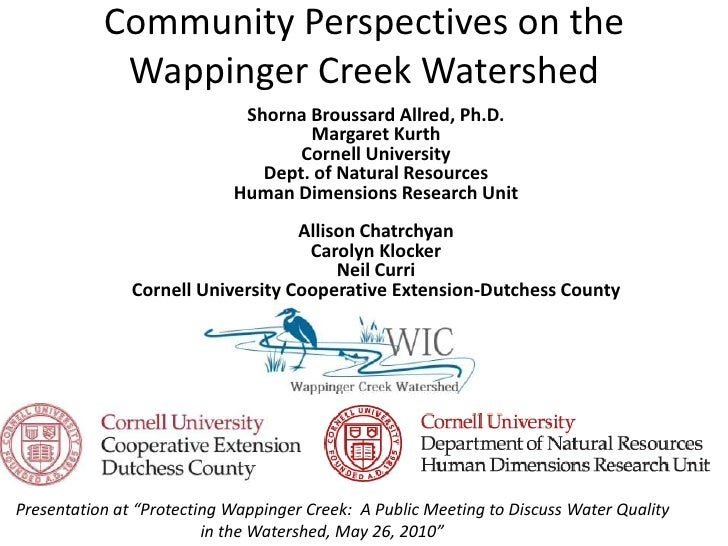 Community Perspectives on the Wappinger Creek Watershed