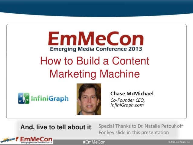 EmMeCon how to build a content marketing machine