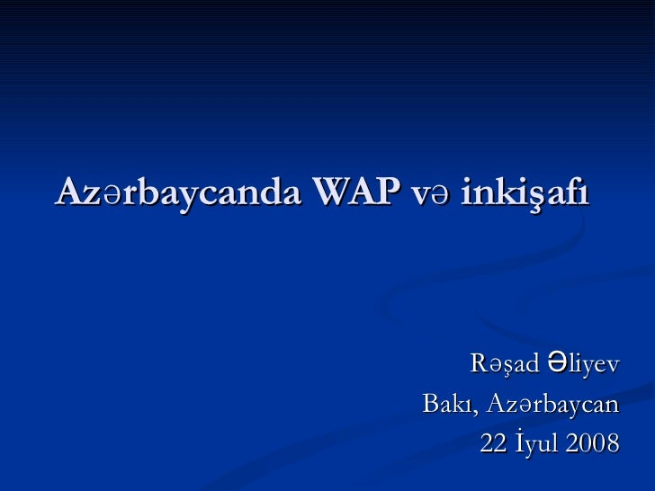 Wap Presentation