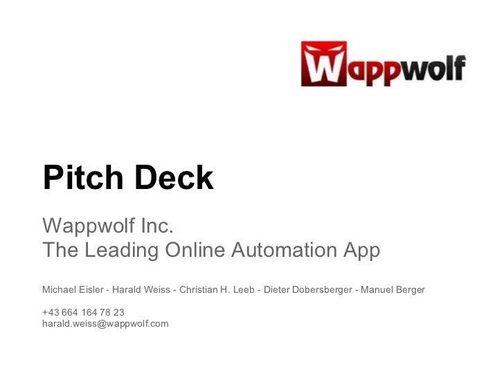 Wappwolf Pitchdeck