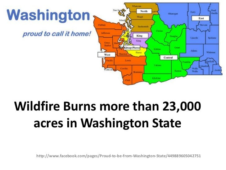 Wildfire Burns more than 23,000   acres in Washington State   http://www.facebook.com/pages/Proud-to-be-from-Washington-St...
