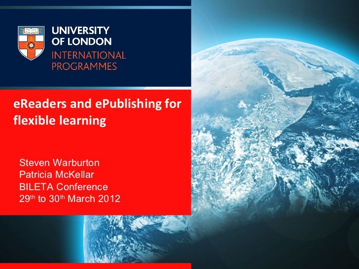 eReaders and ePublishing for flexible learning