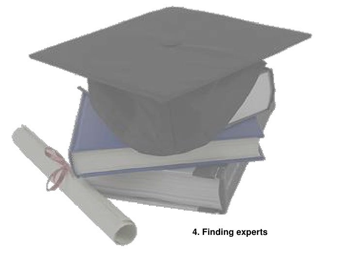 4. Finding experts