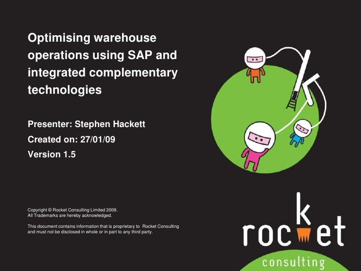 Optimising warehouse operations using SAP and integrated complementary technologies <br />Presenter: Stephen Hackett<br />...