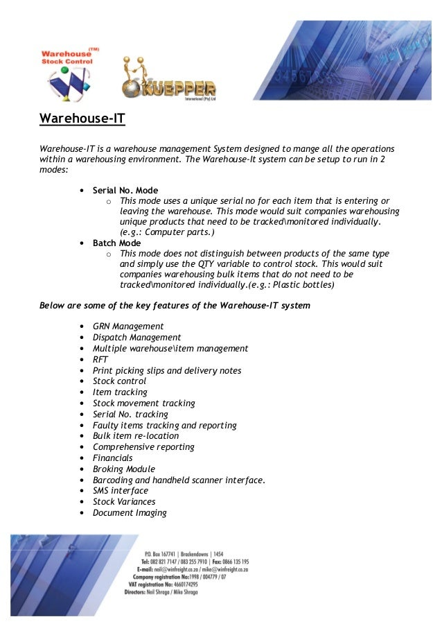 Warehouse-IT Software