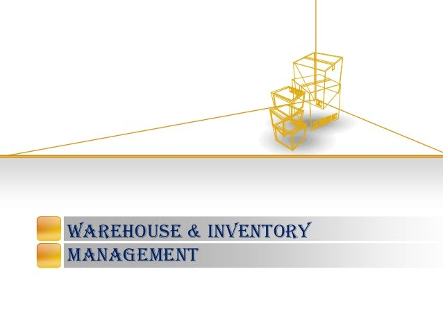 Warehouse & inventory management template