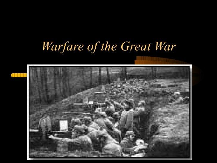 Warfare of the Great War