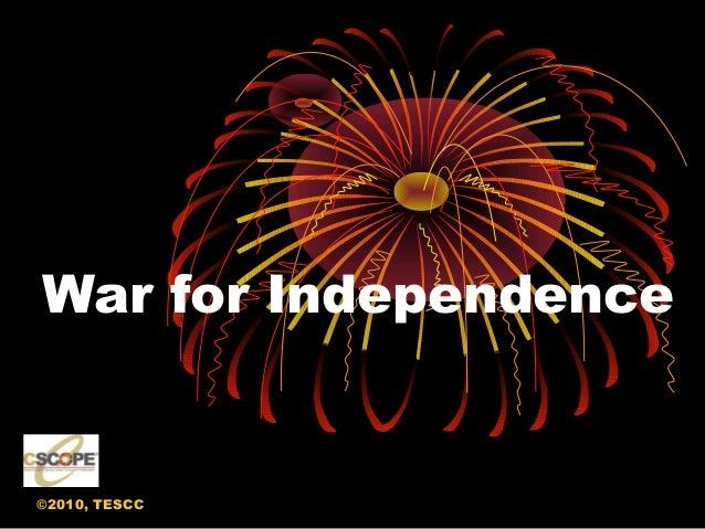 ©2010, TESCC War for Independence