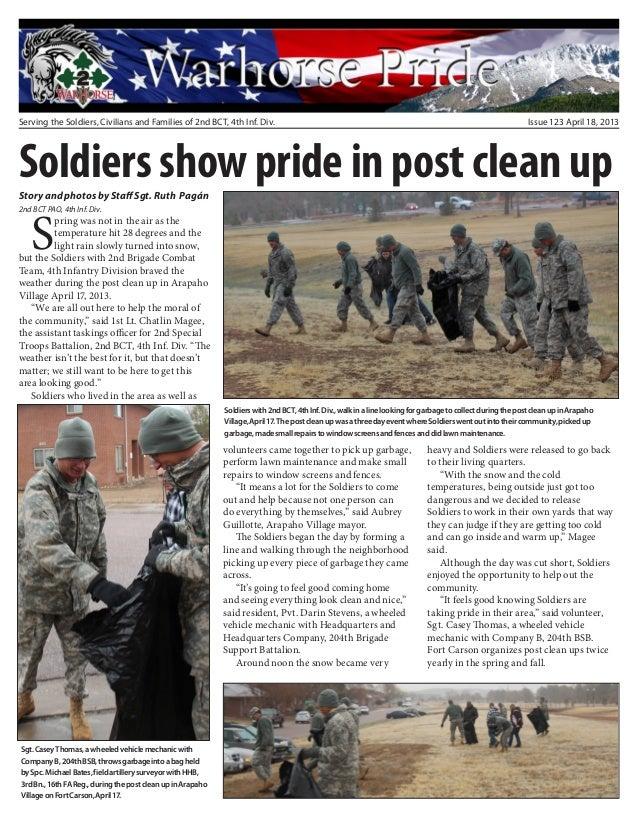 Warhorse pride #123 april 18, 2013