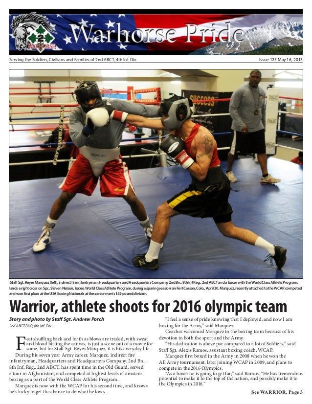 Serving the Soldiers, Civilians and Families of 2nd ABCT, 4th Inf. Div. Issue 125 May 16, 2013Warrior, athlete shoots for ...