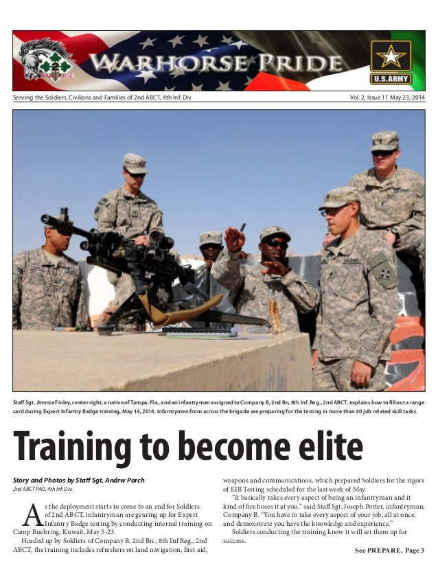 Serving the Soldiers, Civilians and Families of 2nd ABCT, 4th Inf. Div. Vol. 2, Issue 11 May 23, 2014 Staff Sgt. Jimmie Fi...