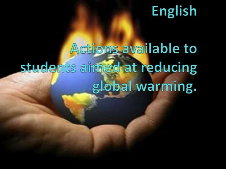 University of Colima bachillerato No. 18EnglishActions available to students aimed at reducing global warming.<br />