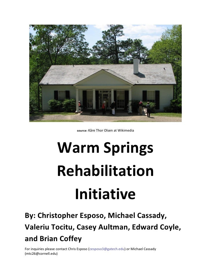 source: Kåre Thor Olsen at Wikimedia                    Warm Springs                    Rehabilitation                    ...