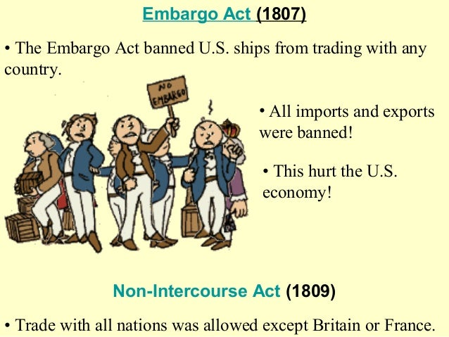 thomas jefferson embargo act of 1807 Thomas jefferson foreign policy: thomas jefferson, barbary pirates, and the  embargo act of 1807 aim: what was president jefferson's foreign policy how  did.