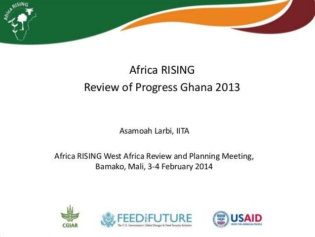 Africa RISING Review of Progress Ghana 2013  Asamoah Larbi, IITA Africa RISING West Africa Review and Planning Meeting, Ba...
