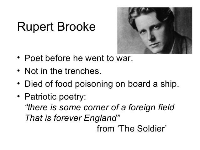 sassoon vs brooke The hypertexts the best war poetry and anti-war poetry which poets wrote the best war poems and the best anti-war poems picking the greatest war and anti-war poems of all time was a highly subjective task, so if you disagree with my choices, please feel free to compile your own.