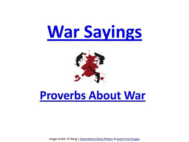 War proverbs