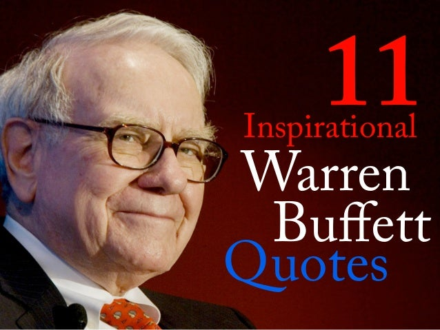 Warren 11 Buffett Quotes Inspirational