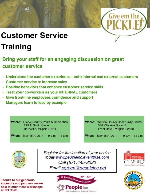 Warren Clarke County Customer Service Training