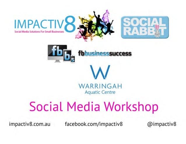 Warringah Council Social Media Workshop
