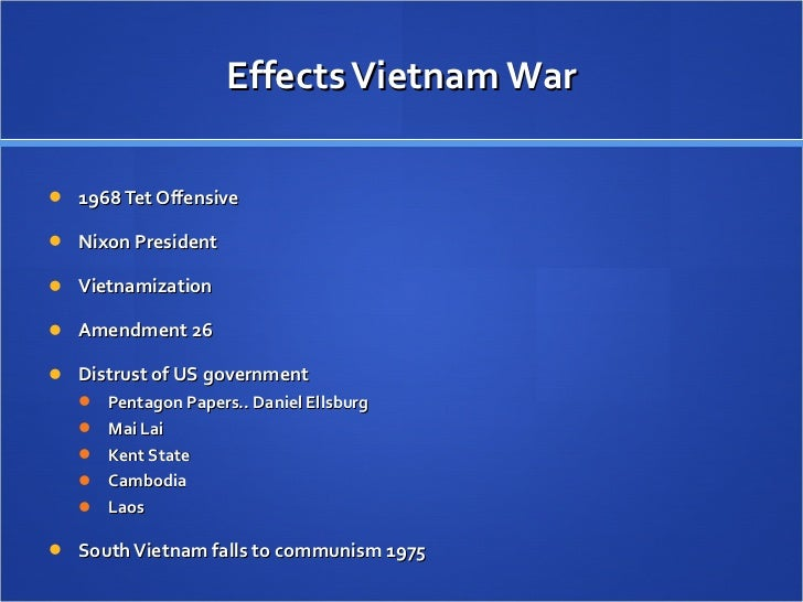 The Vietnam Conflict And Its Effects