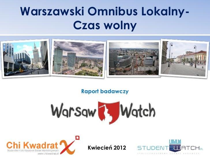 Warsaw watch edycja 1 - czas wolny