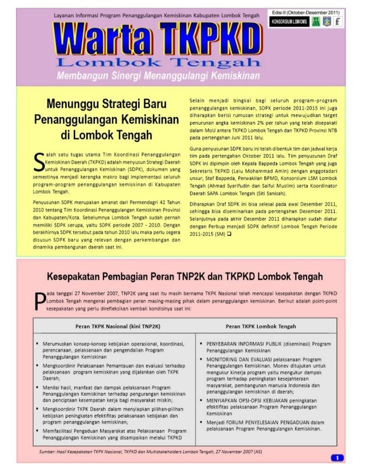 Warta tkpkd lombok tengah edisi ii