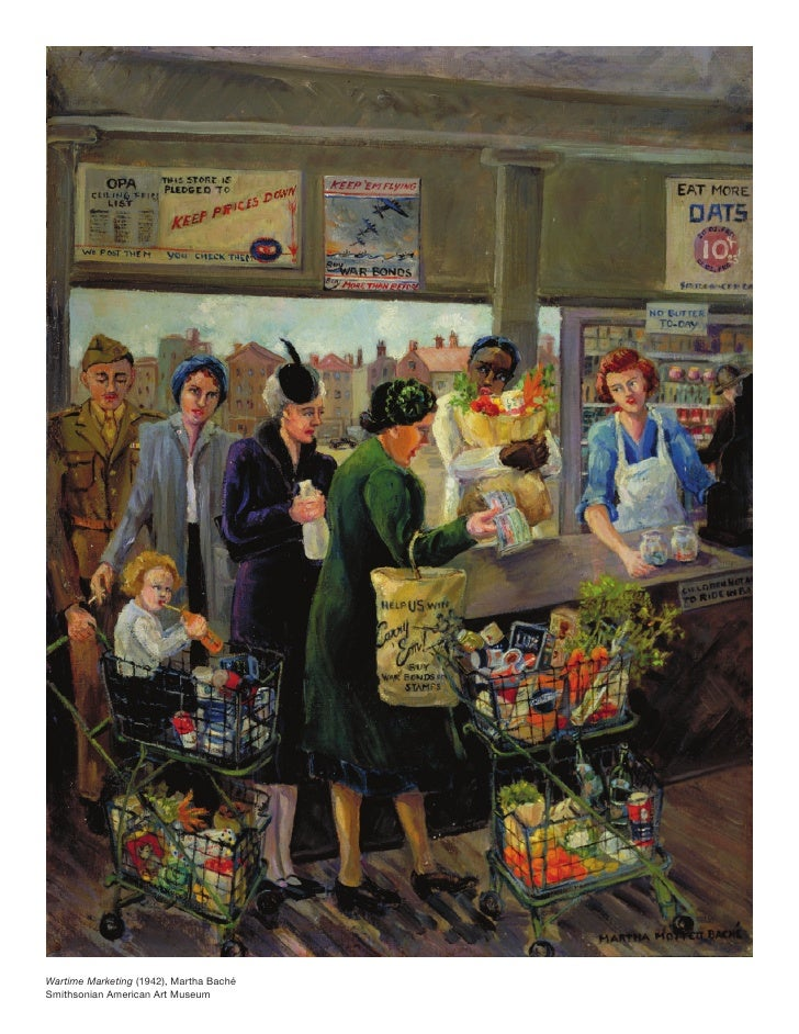 Wartime Marketing (1942), Martha Baché Smithsonian American Art Museum