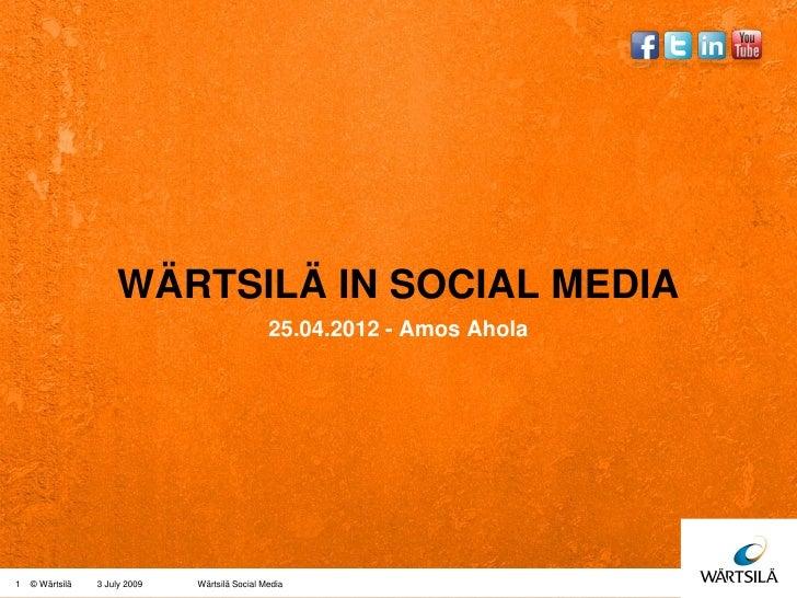 Wartsila in social media