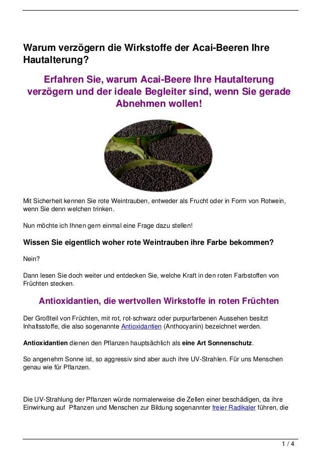 Warum verzögern die Wirkstoffe der Acai-Beeren IhreHautalterung?    Erfahren Sie, warum Acai-Beere Ihre Hautalterung verzö...