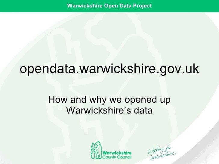 Warwickshire open data project