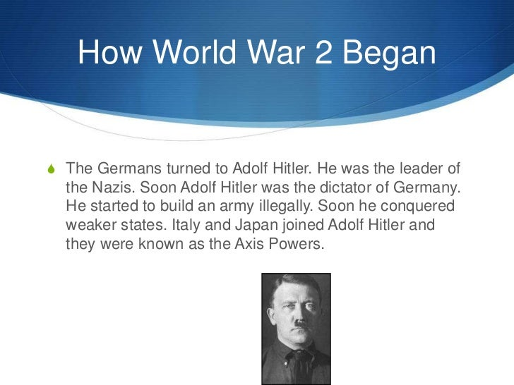 What did Hitler do that led up to world war 2?