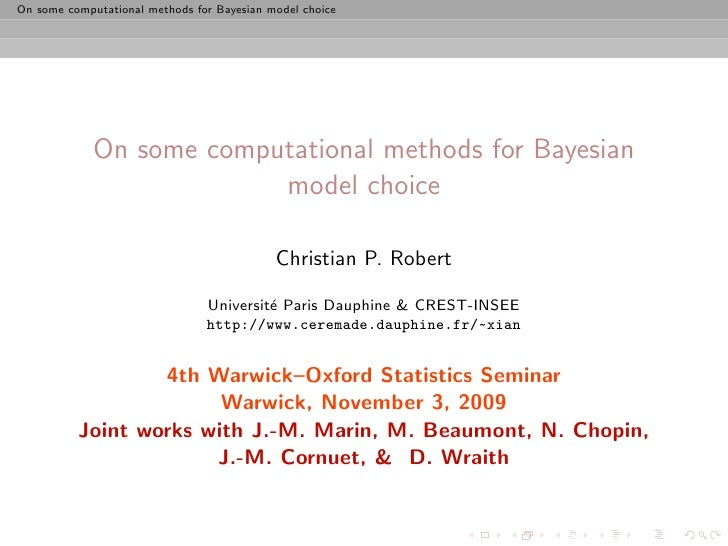 4th joint Warwick Oxford Statistics Seminar