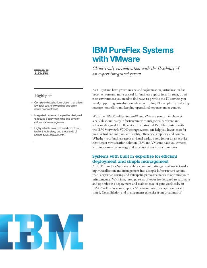 IBM PureFlex Systems                                                        with VMware                                   ...