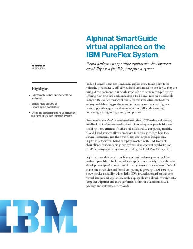 Alphinat SmartGuide virtual appliance on the IBM PureFlex System