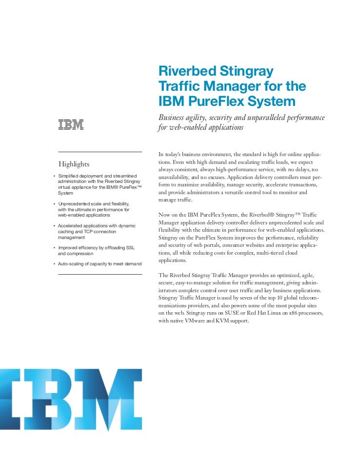 Riverbed Stingray Traffic Manager for the  IBM PureFlex System