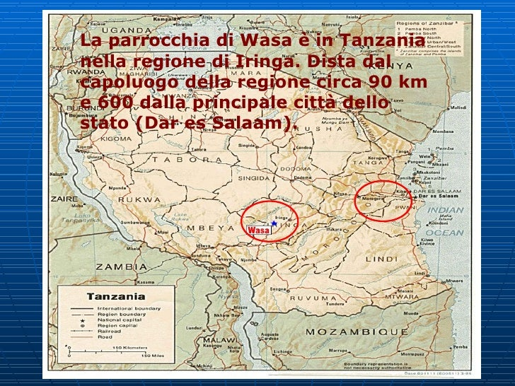 La parrocchia di Wasa è in Tanzania nella regione di Iringa. Dista dal capoluogo della regione circa 90 km e 600 dalla pri...
