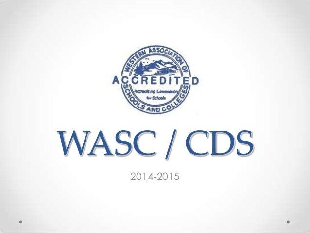 WASC / CDS 2014-2015