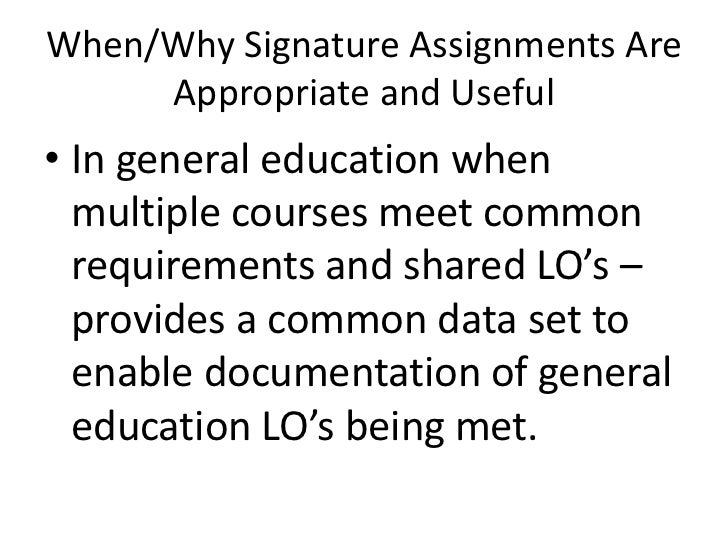 Assignments education